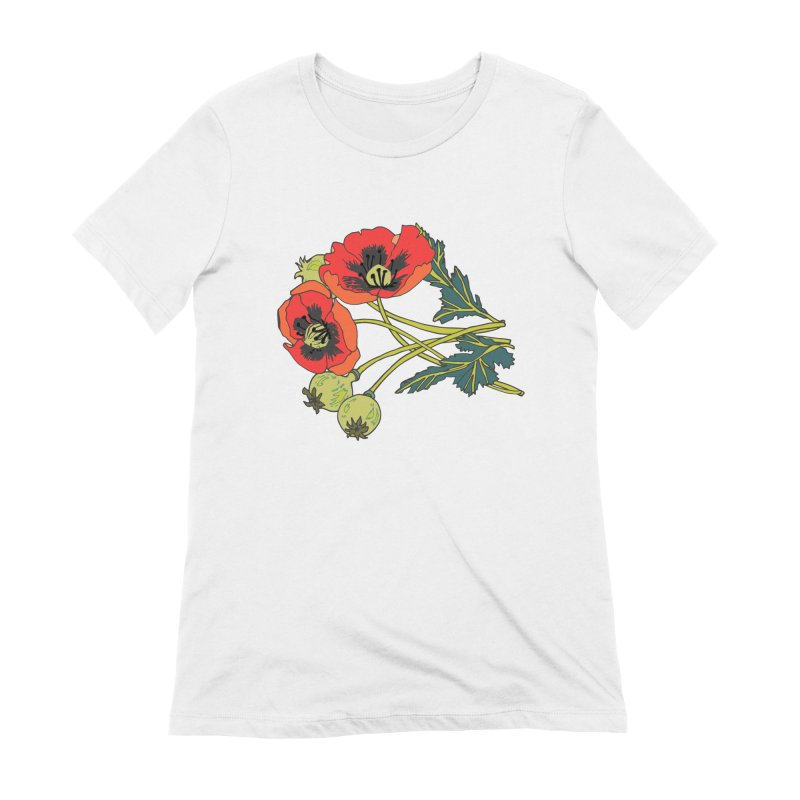 Red Poppies Women's Extra Soft T-Shirt by bad arithmetic