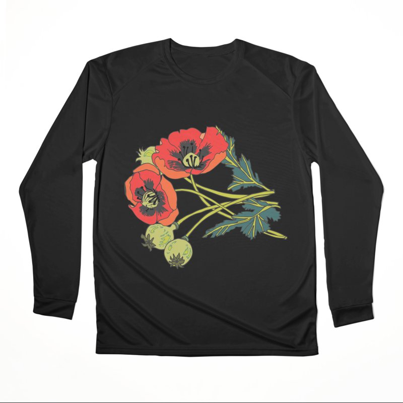 Red Poppies Women's Performance Unisex Longsleeve T-Shirt by bad arithmetic