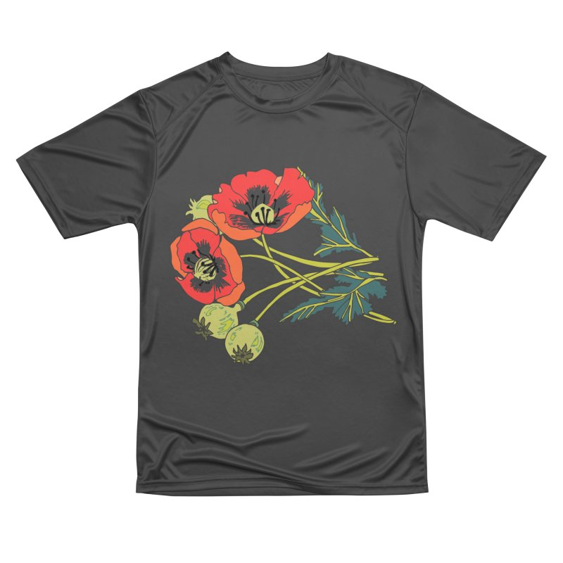 Red Poppies Women's Performance Unisex T-Shirt by bad arithmetic