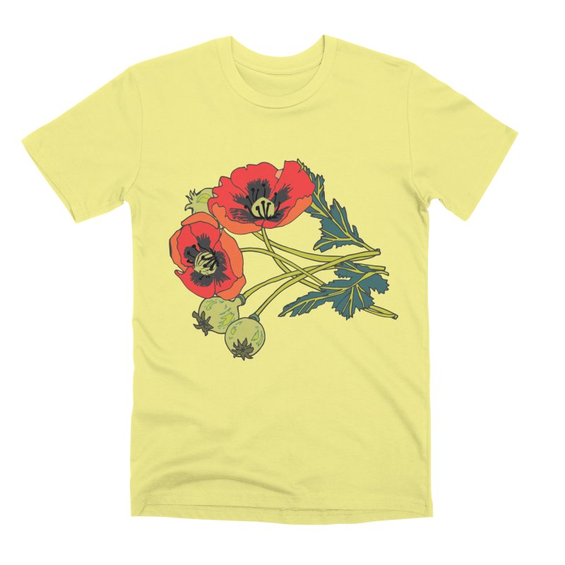 Red Poppies Men's Premium T-Shirt by bad arithmetic