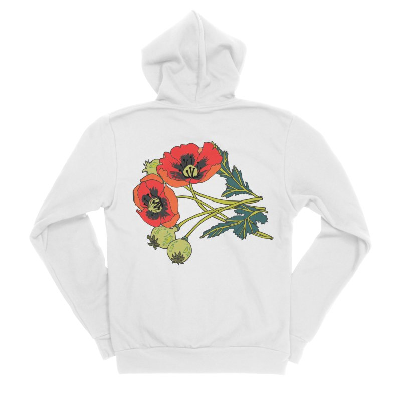 Red Poppies Women's Zip-Up Hoody by bad arithmetic