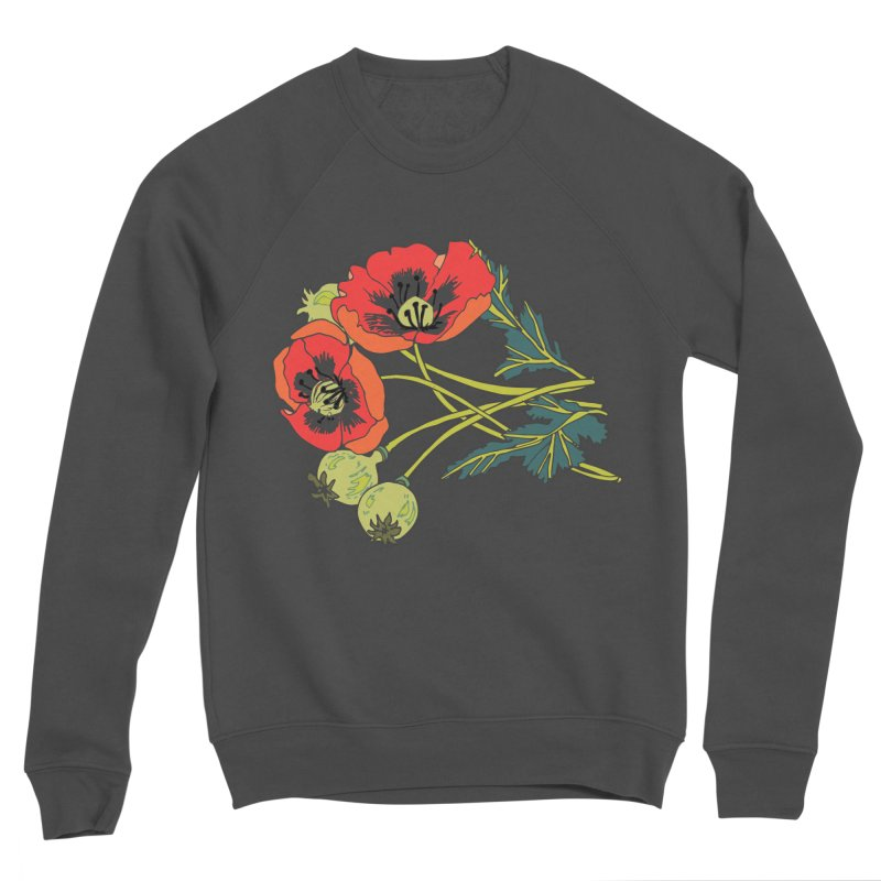 Red Poppies Women's Sponge Fleece Sweatshirt by bad arithmetic