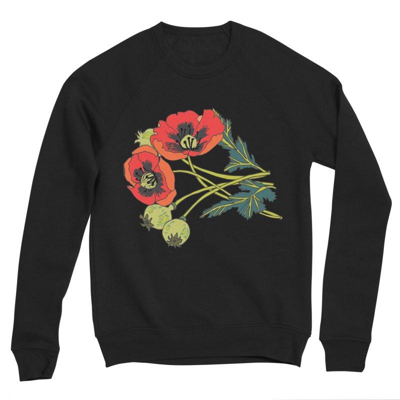 Red Poppies Men's Sponge Fleece Sweatshirt by bad arithmetic