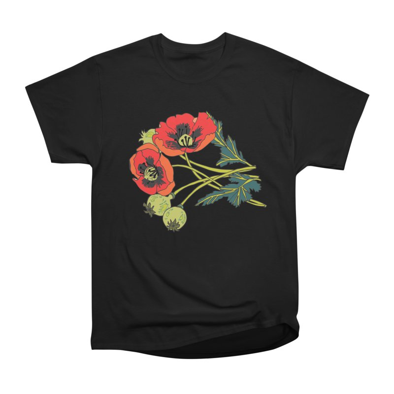 Red Poppies Women's Heavyweight Unisex T-Shirt by bad arithmetic