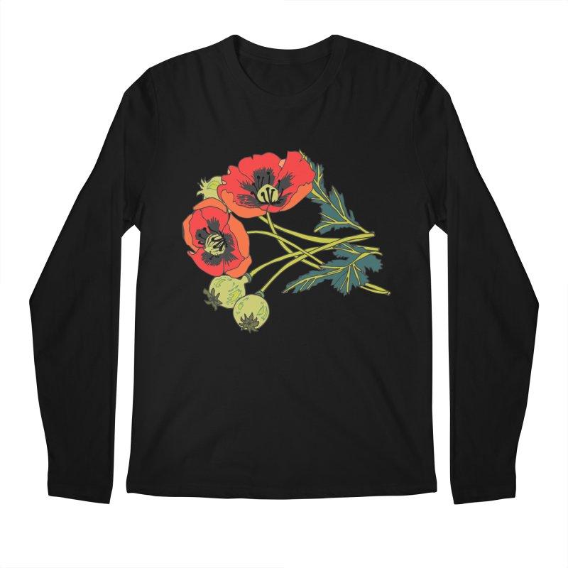 Red Poppies Men's Regular Longsleeve T-Shirt by bad arithmetic