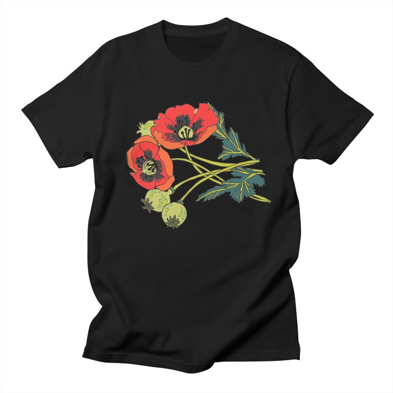 Red Poppies Women's Regular Unisex T-Shirt by bad arithmetic