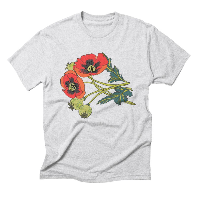 Red Poppies Men's Triblend T-Shirt by bad arithmetic