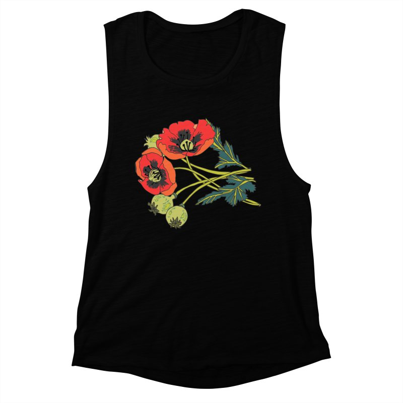 Red Poppies Women's Muscle Tank by bad arithmetic