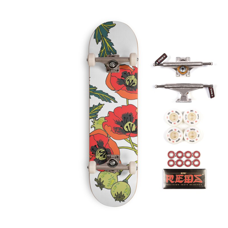 Red Poppies Accessories Complete - Pro Skateboard by bad arithmetic