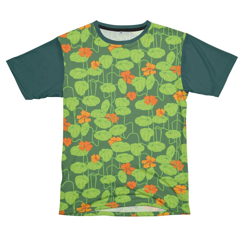 Nasturtiums Men's French Terry T-Shirt Cut & Sew by bad arithmetic