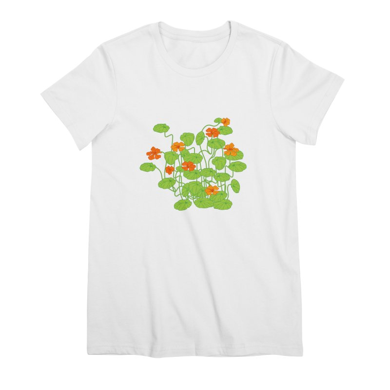 Nasturtiums Women's Premium T-Shirt by bad arithmetic