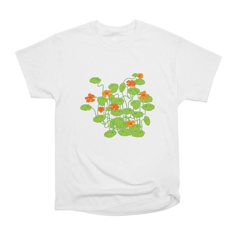 Nasturtiums Women's Heavyweight Unisex T-Shirt by bad arithmetic