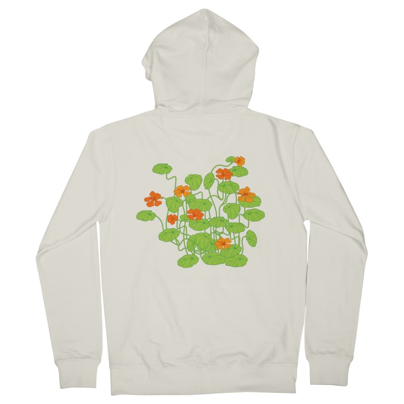 Nasturtiums Men's French Terry Zip-Up Hoody by bad arithmetic