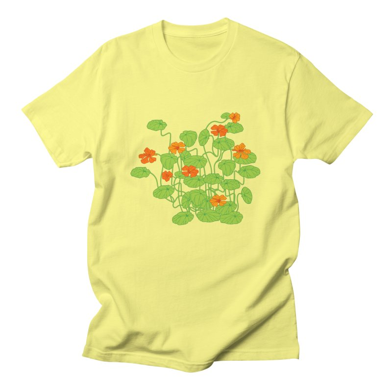 Nasturtiums Men's T-Shirt by bad arithmetic