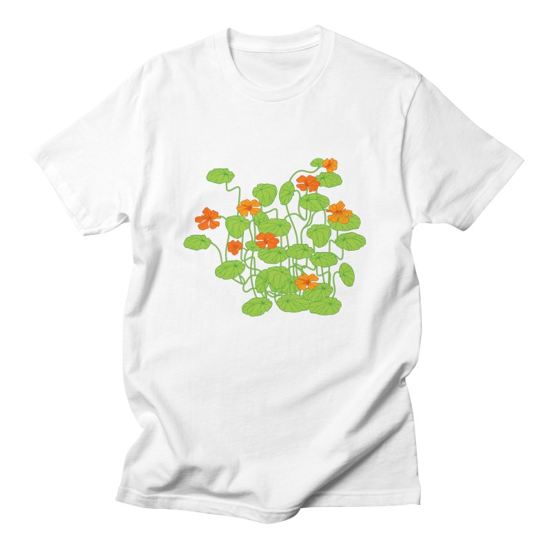Nasturtiums Men's Regular T-Shirt by bad arithmetic