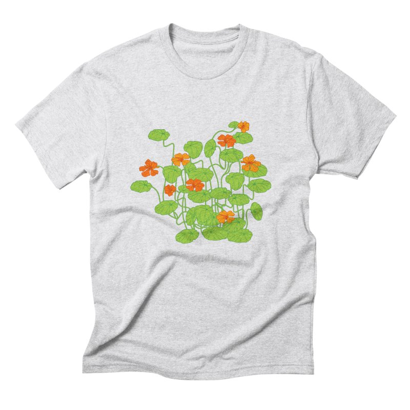 Nasturtiums Men's Triblend T-Shirt by bad arithmetic