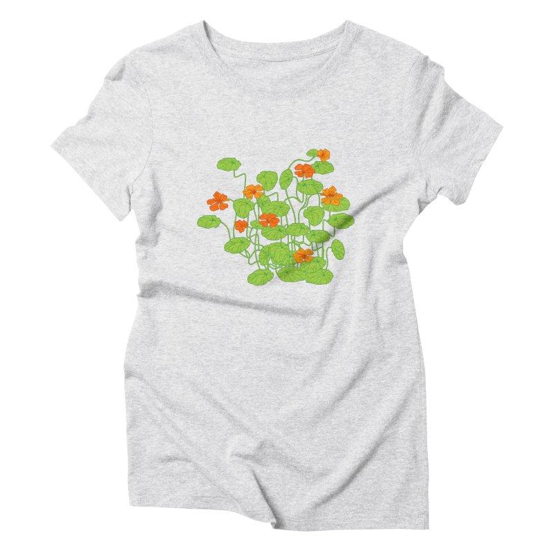 Nasturtiums Women's Triblend T-Shirt by bad arithmetic