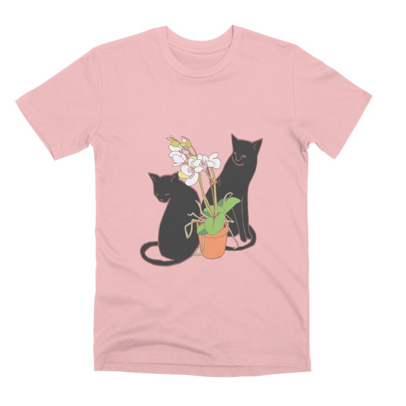 Cats & Orchid Men's Premium T-Shirt by bad arithmetic