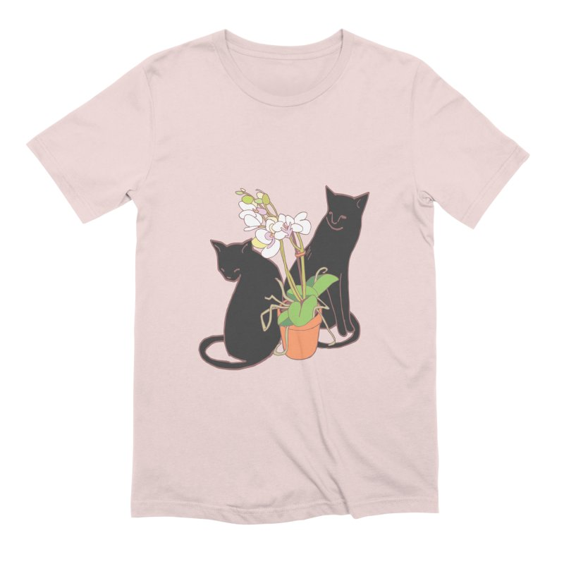Cats & Orchid Men's Extra Soft T-Shirt by bad arithmetic