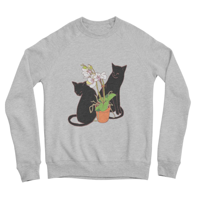 Cats & Orchid Men's Sponge Fleece Sweatshirt by bad arithmetic
