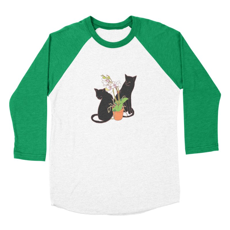 Cats & Orchid Men's Baseball Triblend Longsleeve T-Shirt by bad arithmetic