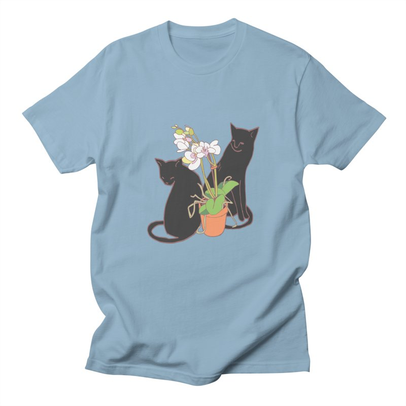 Cats & Orchid Women's Regular Unisex T-Shirt by bad arithmetic