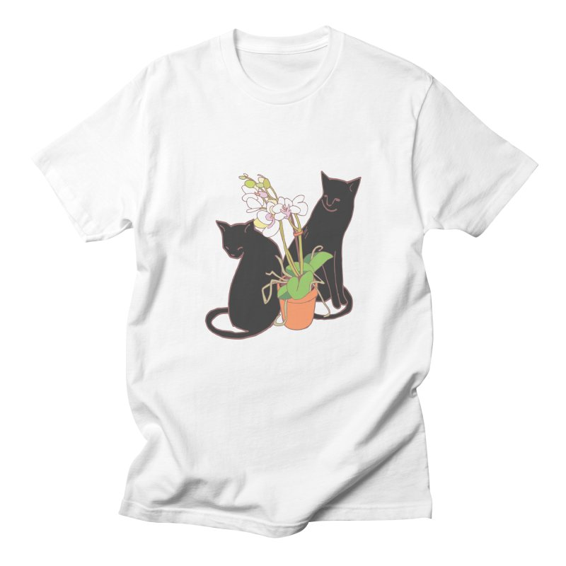 Cats & Orchid Men's Regular T-Shirt by bad arithmetic