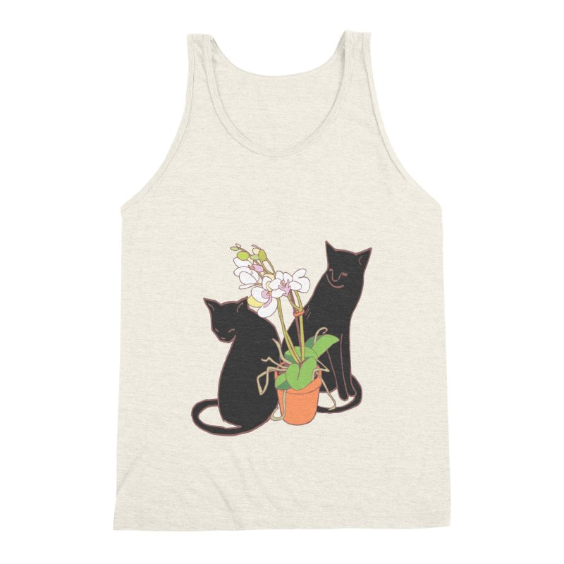 Cats & Orchid Men's Triblend Tank by bad arithmetic