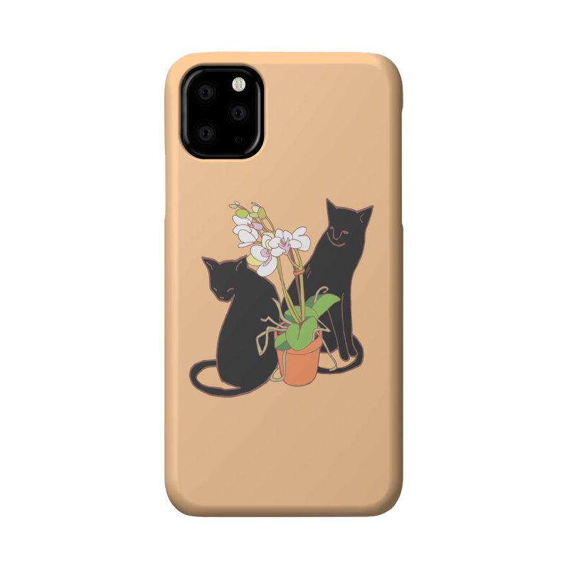 Cats & Orchid Accessories Phone Case by bad arithmetic