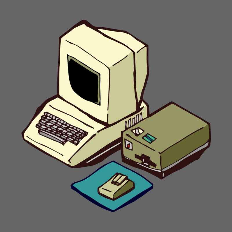 1980's Computer by napiform clip art