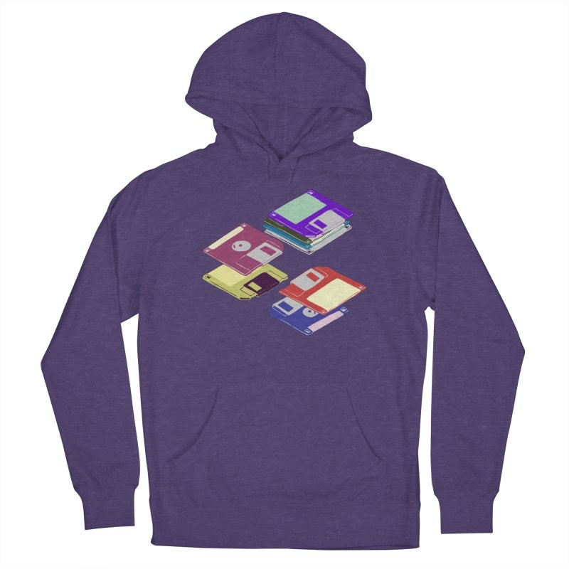 Floppy Disks Men's French Terry Pullover Hoody by bad arithmetic