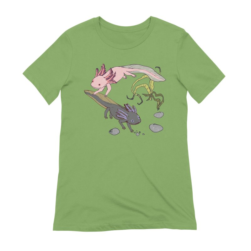 Happy Axolotls Women's Extra Soft T-Shirt by bad arithmetic