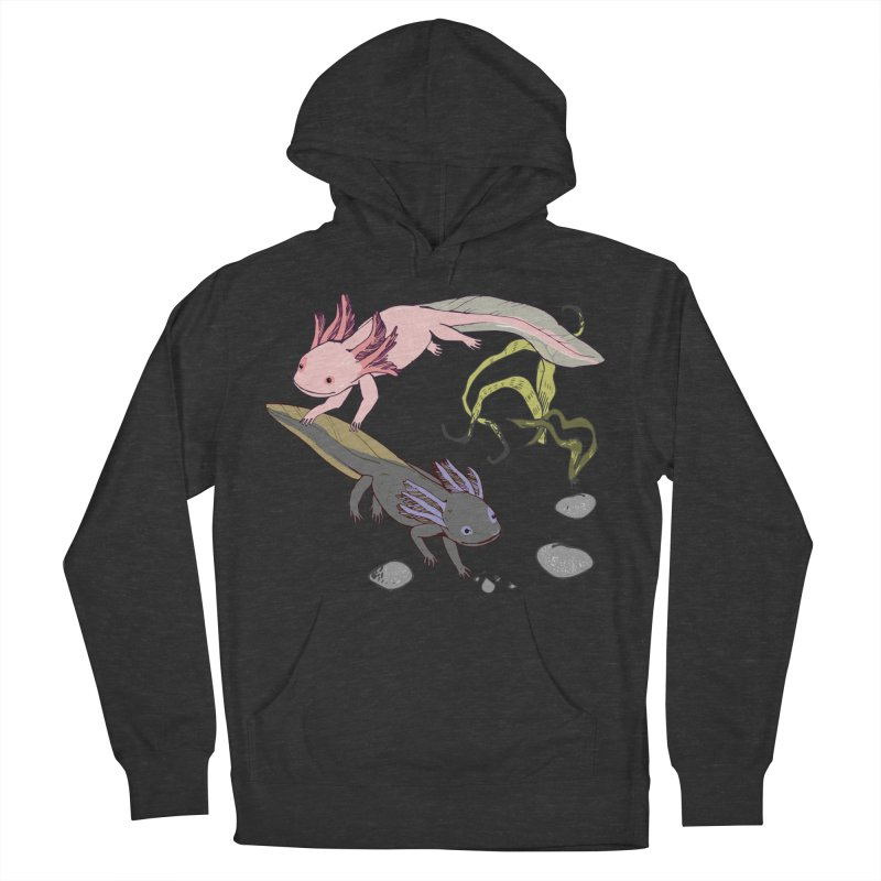 Happy Axolotls Men's French Terry Pullover Hoody by bad arithmetic