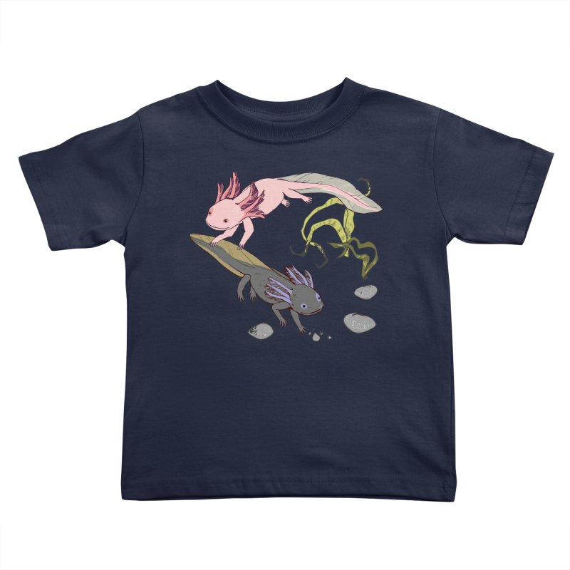 Happy Axolotls Kids Toddler T-Shirt by bad arithmetic