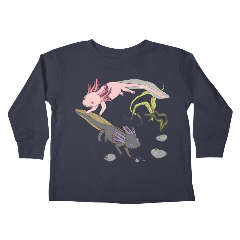 Happy Axolotls Kids Toddler Longsleeve T-Shirt by bad arithmetic