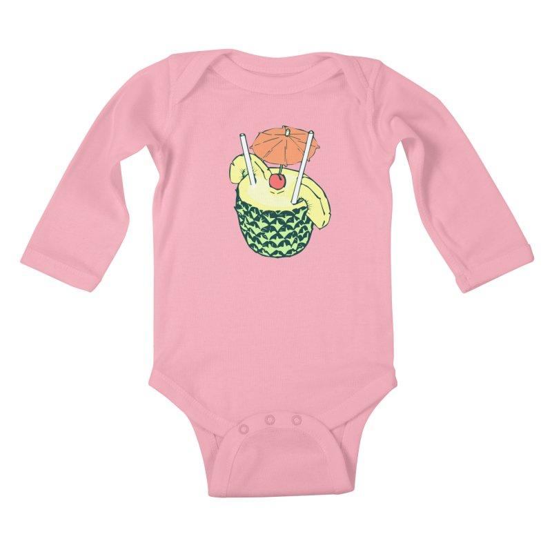Piña Colada Kids Baby Longsleeve Bodysuit by napiform clip art