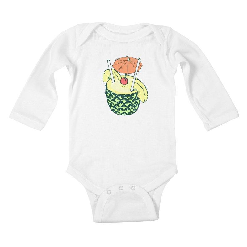 Piña Colada Kids Baby Longsleeve Bodysuit by bad arithmetic