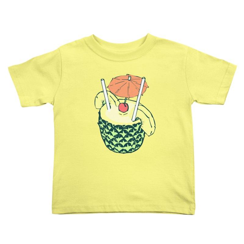 Piña Colada Kids Toddler T-Shirt by bad arithmetic