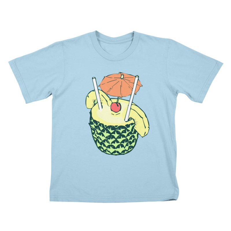 Piña Colada Kids T-Shirt by bad arithmetic