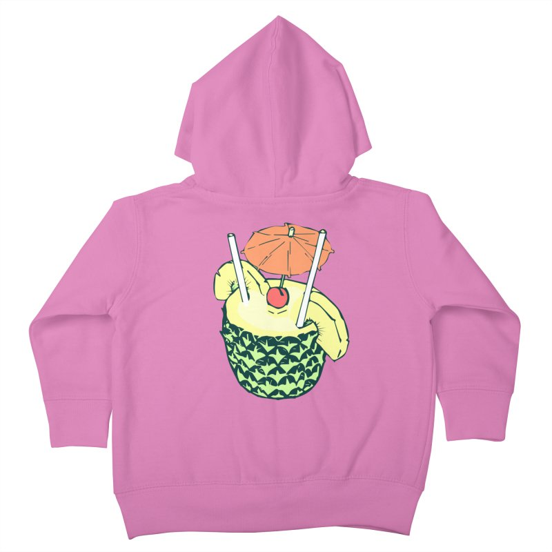 Piña Colada Kids Toddler Zip-Up Hoody by bad arithmetic
