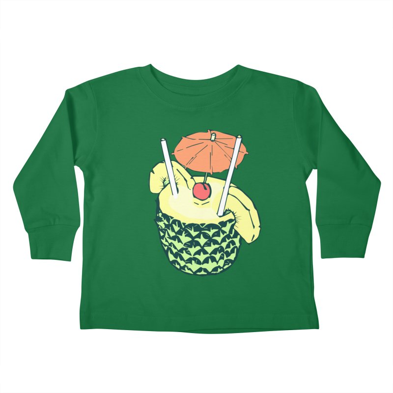 Piña Colada Kids Toddler Longsleeve T-Shirt by bad arithmetic