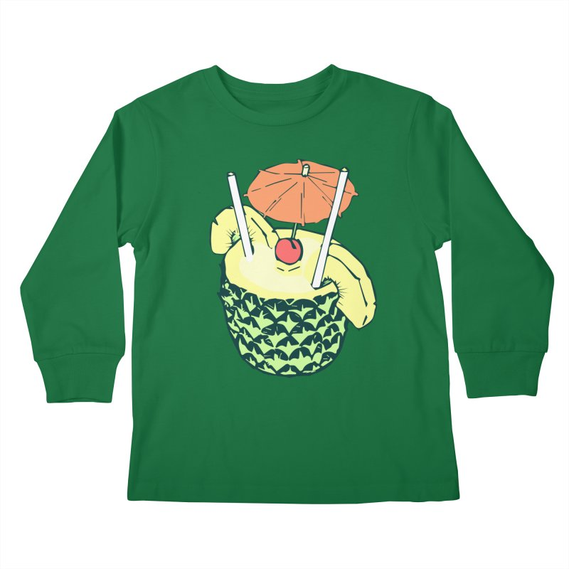 Piña Colada Kids Longsleeve T-Shirt by bad arithmetic