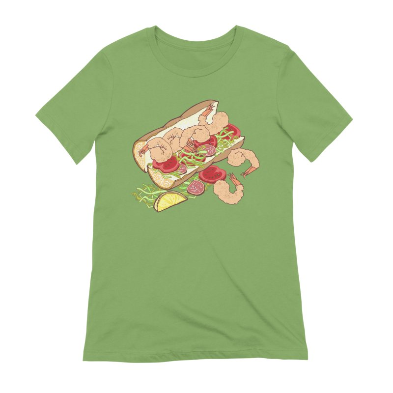 Shrimp Po-boy Women's Extra Soft T-Shirt by bad arithmetic