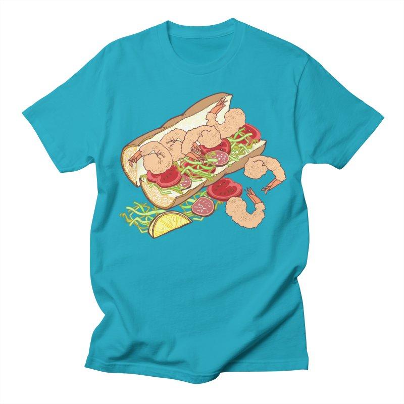 Shrimp Po-boy Men's T-Shirt by bad arithmetic