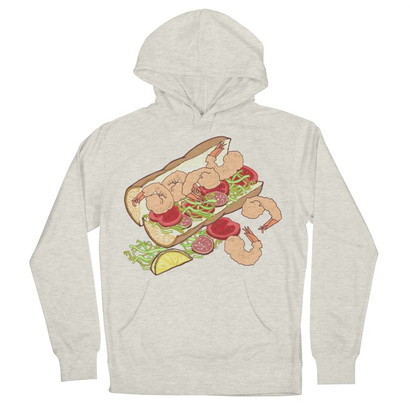 Shrimp Po-boy Men's French Terry Pullover Hoody by bad arithmetic