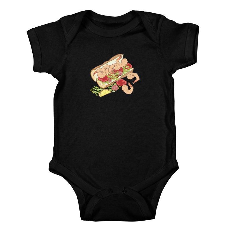 Shrimp Po-boy Kids Baby Bodysuit by bad arithmetic