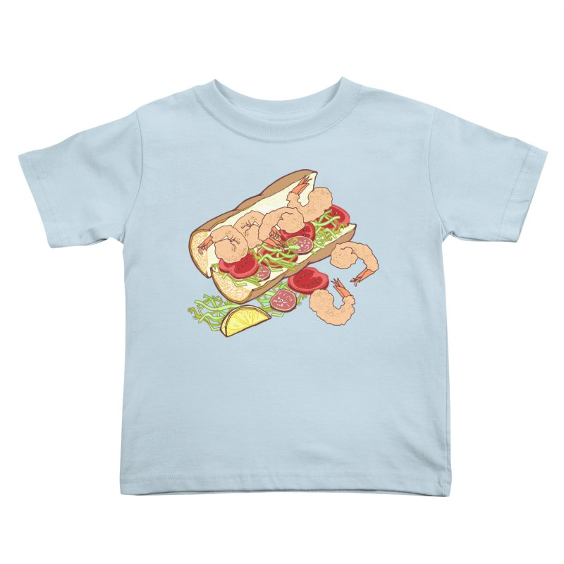 Shrimp Po-boy Kids Toddler T-Shirt by bad arithmetic