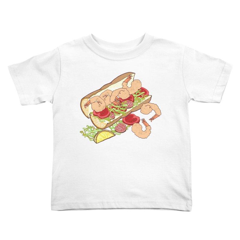 Shrimp Po-boy Kids Toddler T-Shirt by bad arithmetic