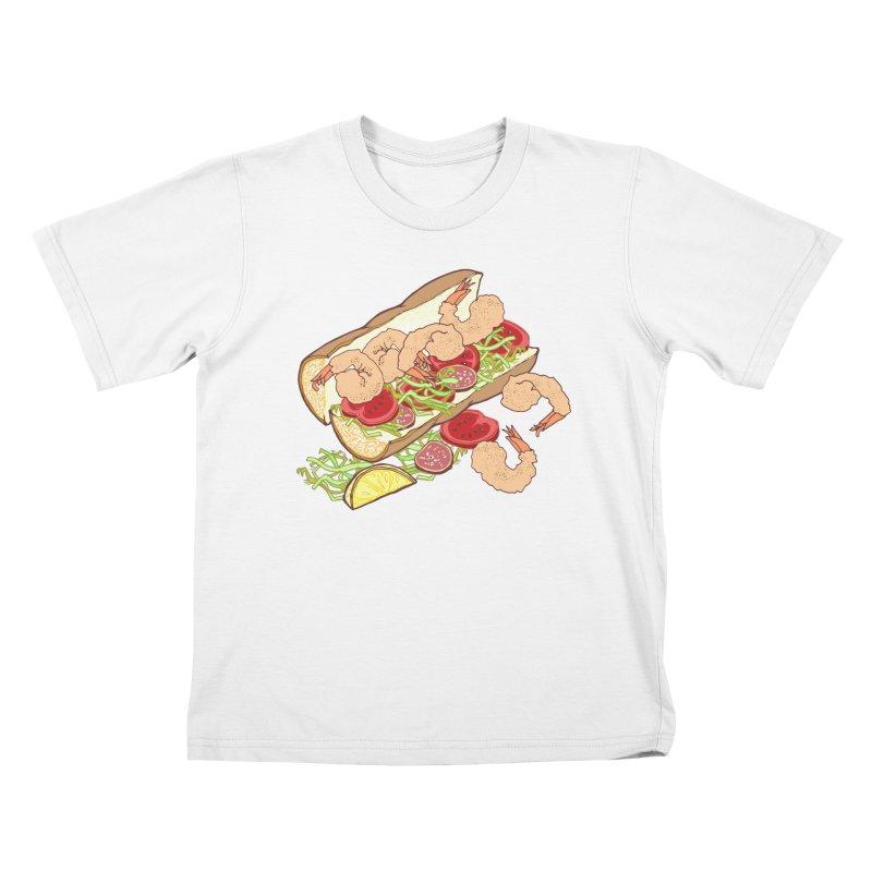 Shrimp Po-boy Kids T-Shirt by bad arithmetic