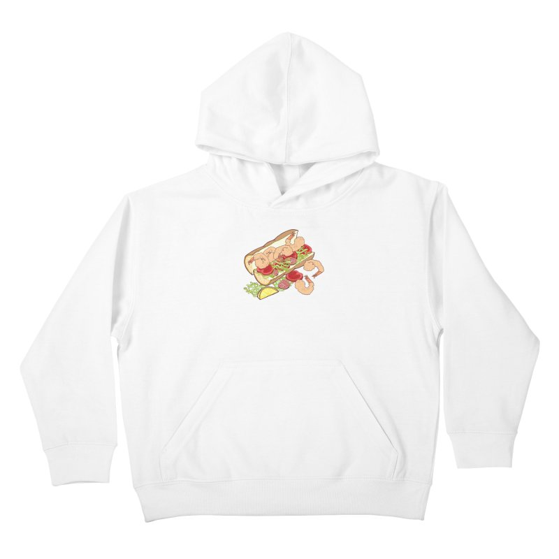 Shrimp Po-boy Kids Pullover Hoody by bad arithmetic